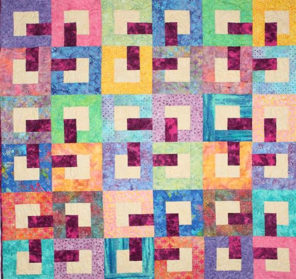 bali holiday lap quilt (Medium)