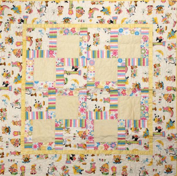 cuddly minkee baby quilt (Medium)