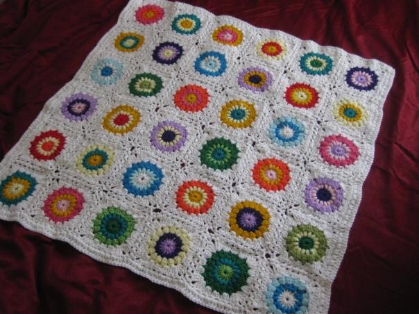 Crochet sunburst blanket