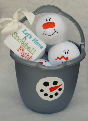 Snowman Snowballs by Linda from Embroidery Garden.